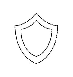 shield protection system secure technology symbol vector image