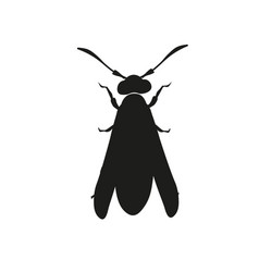 silhouette of a wasp vector image