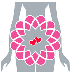 Silhouette of pregnant women vector