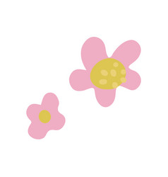 simple minimalistic colorful flowers floral vector image