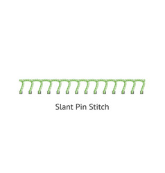 Slant pin sewing decorative stitch seamless brush vector