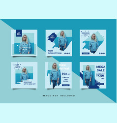 social media post design template vector image