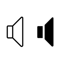 Speaker glyph icon multimedia icon vector