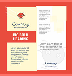 spider company brochure title page design company vector image