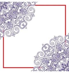 Square Mandala Frame-03 vector image