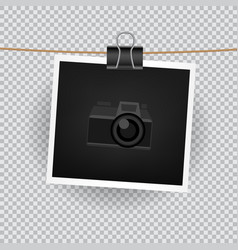 square photo transparent background vector image