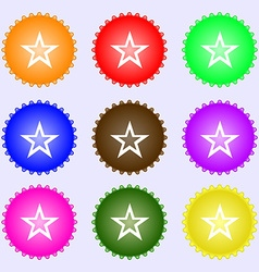 Star sign icon Favorite button Navigation symbol A vector