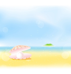 Summer Beach Pearls vector image