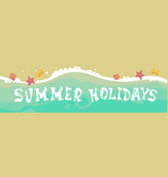Summer beach vacation seaside sand tropical vector