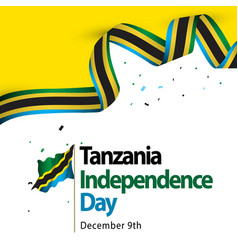 Tanzania independence day template design vector