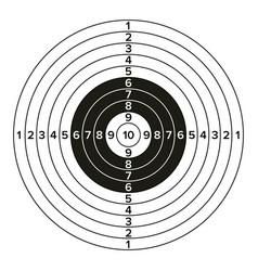Target gun classic paper shooting target vector