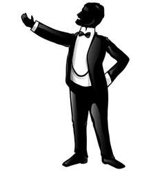 Tenor opera singer silhouette vector