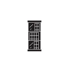 three shelves bookcase black concept icon vector image