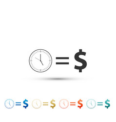 time is money icon isolated on white background vector image