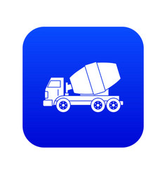 truck concrete mixer icon digital blue vector image