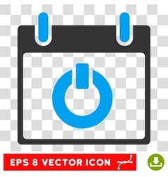 Turn On Calendar Day Eps Icon vector image