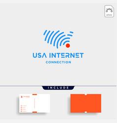 United states signal logo design internet symbol vector