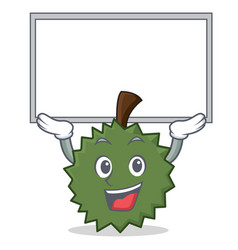 Up board durian character cartoon style vector