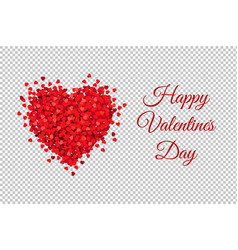 valentines day banner transparent background vector image
