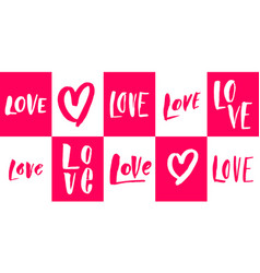 Valentines day heart love greeting card vector
