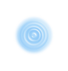 Water ripple realistic vector