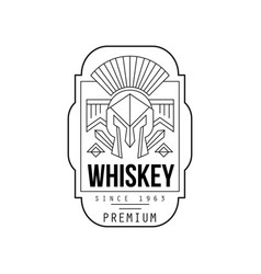 whiskey vintage label design alcohol industry vector image