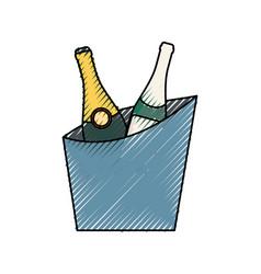 wine cooler vector image