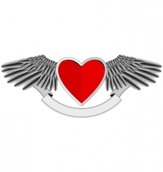 winged heart logo vector image