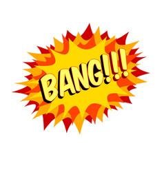 Word text orange bang image vector
