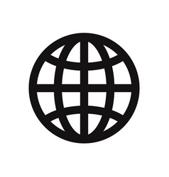 world wide icon web symbol vector image