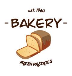 bakery ost1960 fresh pastries white background ve vector image