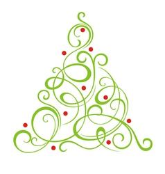 Christmas decorative tree vector image