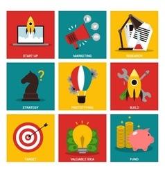 Entrepreneurship nine flat items concept vector image vector image