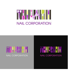 logo for nail design company with business vector image vector image