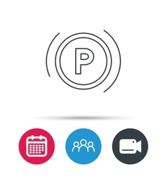 Parking icon Dashboard sign vector image