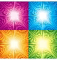 Starburst vector image vector image