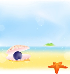 Summer Pearls Beach Background vector image vector image