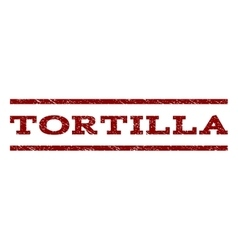 Tortilla watermark stamp vector