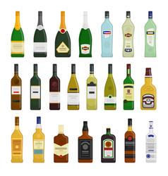 big set of different bottles vector image