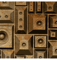 composition grunge old rusty speaker sound system vector image