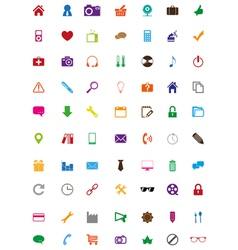 Creative colorful icons collection vector image vector image