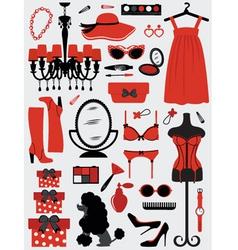 Fashion stuff vector image