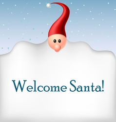 Cartoon Santa beard frame vector image