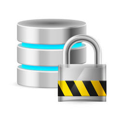 computer database icon off on white vector image