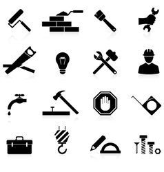 Icons construction and repair vector