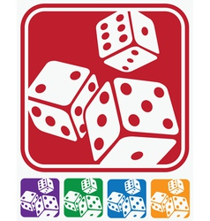 icons dice vector image