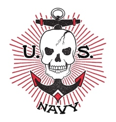 Old school US Navy design vector image vector image