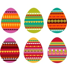 patterned easter eggs vector image vector image