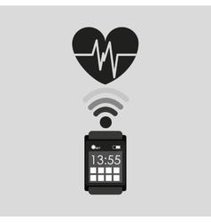 smart watch healthy heart social media vector image