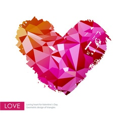 Triangle love heart vector image vector image